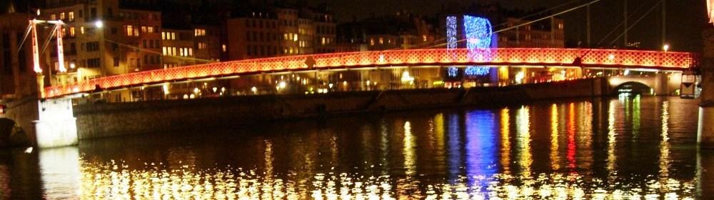 La passerelle St Georges sur le Saône